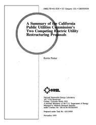 A Summary of the California Public Utilities Commission's ... - NREL