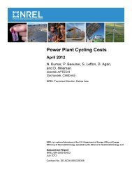 Power Plant Cycling Costs - NREL
