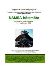 Inbjudan & preliminärt program - Naturhistoriska riksmuseet