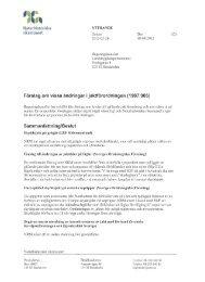 Förslag om vissa ändringar i jaktförordningen - Naturhistoriska ...