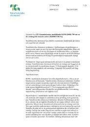 Yttrande Dnr 50-9/2009 (KOM) - Naturhistoriska riksmuseet