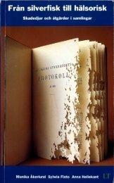 Boken - Från silverfisk till hälsorisk - Naturhistoriska riksmuseet