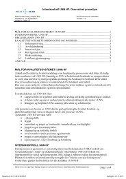 Internkontroll UNN HF. Overordnet prosedyre Side 1 av4 MÅL FOR ...