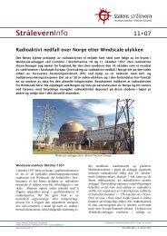 Radioaktivt nedfall over Norge etter Windscale ... - Statens strålevern