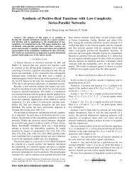Synthesis of Positive-Real Functions with Low-Complexity Series ...