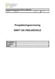 PA Drift og Vedlikehold.jan - Nord-Trøndelag fylkeskommune