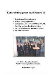 Kontrollutvalgenes studiebesøk til Brussel Rapport - Nord-Trøndelag ...