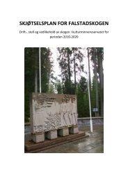 skjøtselsplan for falstadskogen - Nord-Trøndelag fylkeskommune