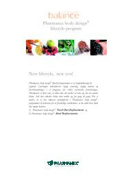 Pharmanex body design® lifestyle-program New lifestyle ... - Nu Skin