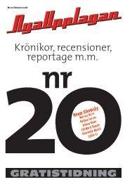 Krönikor, recensioner, reportage m.m. - Nya Upplagan