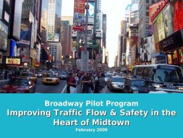 Broadway Pilot Program - NYC.gov