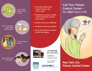 Call Your Poison Control Center: You Might Save a Life - NYC.gov