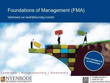 Foundations of Management Essentie van de bedrijfskunde voor ...