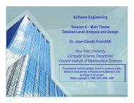 Session 6: Detailed-Level Analysis and Design - New York University
