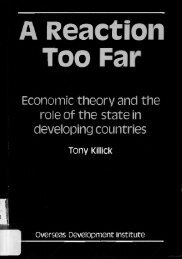 economic theory and the role of the state in developing countries