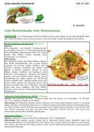 Kundenbrief KW 29 2013 - Ökokiste Kirchdorf