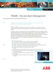 TRAMS - Trip and Alarm Management - Offshore Center Danmark