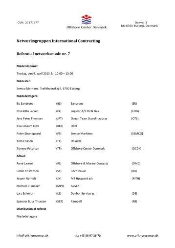 Netværksgruppen International Contracting - Offshore Center ...
