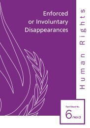 Enforced or Involuntary Disappearances - Office of the High ...
