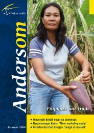 Filipijnse fair trade - Oikocredit