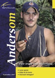 Fair trade met Nederland - Oikocredit