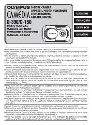 1 D390/C150_B-E1 - Olympus America