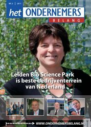 Het Ondernemersbelang Leiden nummer 3-2011