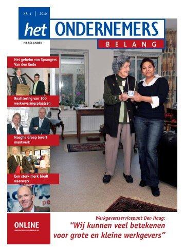 Het Ondernemersbelang Haaglanden nummer 1-2010