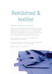 Beklädnad & textilier