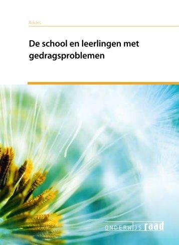 De school en leerlingen met gedragsproblemen - Onderwijsraad