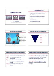 TRANSPLANTATION Transplantationsarten Immunogenität von ...