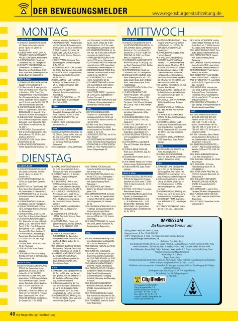 regelm. Termine (209 kb) - Regensburger Stadtzeitung