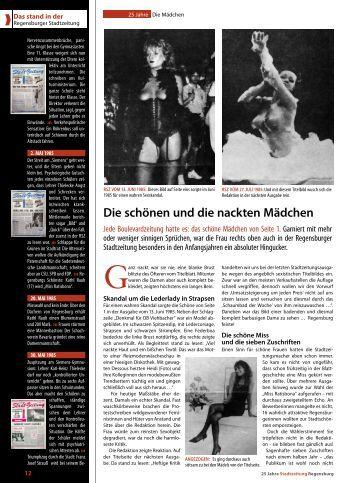 Die schönen und die nackten mädchen - Regensburger Stadtzeitung
