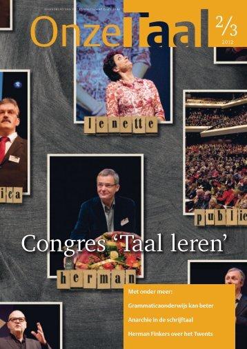 Twents, de wortel van alle talen - Genootschap Onze Taal