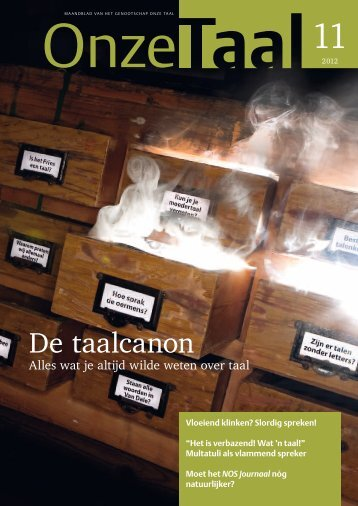 De taalcanon - Genootschap Onze Taal