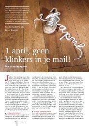 1 april, geen klinkers in je mail! - Genootschap Onze Taal