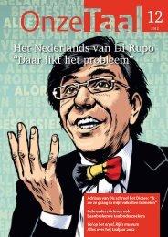 Het Nederlands van Di Rupo - Genootschap Onze Taal