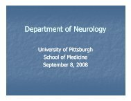 Neurology - Office of Research Health Sciences - University of ...