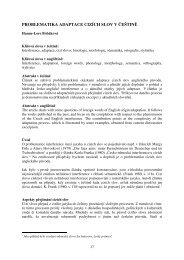 problematika adaptace cizích slov v češtině - Obchodně ...