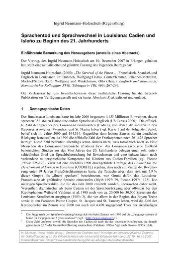Ingrid Neumann-Holzschuh - Opus - Friedrich-Alexander-Universität ...