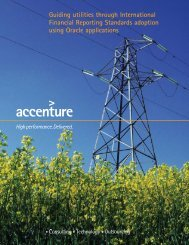 Guiding utilities through IFRS adoption using Oracle Applications ...
