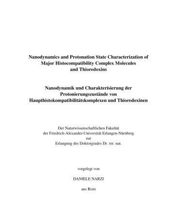 Nanodynamics and Protonation State Characterization of Major ...