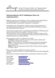 Rekommendationer BUP version 4