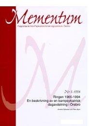 Mementum nr 12, 1998. - Örebro läns landsting