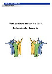 Verksamhetsberättelse 2011 - Örebro läns landsting