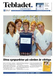 Tebladet nr 10-2010 - Örebro läns landsting