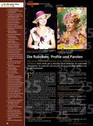 Die Rubriken: Profile und Parolen - Regensburger Stadtzeitung