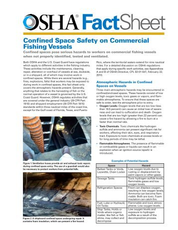Confined Space Safety on Commercial Fishing Vessels - OSHA