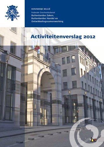 Activiteitenverslag 2012 - Buitenlandse Zaken - Belgium