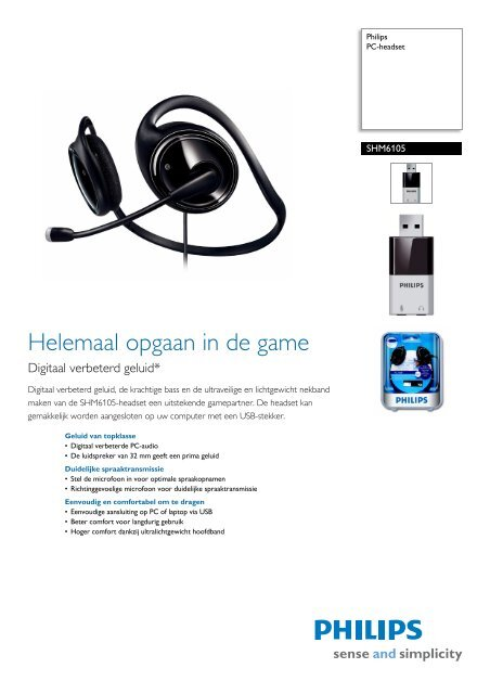 SHM6105/00 Philips PC-headset